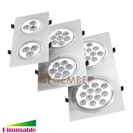 Wholesale Double Spotlights - New Dimmable LED Ceiling Lights 12W 20W 28W 36W 48W Double Head LED Downlight LED Ceiling Lamp Spotlight