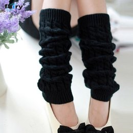 Wholesale Fairy Knitting - Wholesale- AG 15 Fairy Store 2016 Hot Selling Fashion Women Winter Warm Leg Warmers Knitted Crochet Long Socks