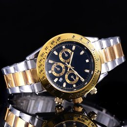 Wholesale Round Black Table - AAA MASTER Luxury men's women brown speed table date stainless steel strap sports quartz watch high quality designer role watch wholesale