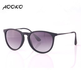 Wholesale Men Black Square Polarized Sunglasses - AOOKO Fashion Erika Fashion Erike Polarized Gradient Sunglasses Brand Vintage Ladies Man Women Chris Sun glasses Oculos De Sol matte frame