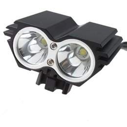 Wholesale Wholesale Rechargable Lamps - CREE XM-L 1500Lm Waterproof 3 Modes LED Bicycle Light U2 Led Headlight Lamp Flashlight With Rechargable Battery