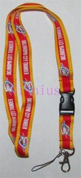 Wholesale Wholesale Breakaway Lanyards - Hot!10pcs Popular Basketball team OKC Breakaway Disconnect LANYARD KEY CHAIN Ring Keychain ID Hold NEW