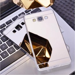 Wholesale Shining Tpu Case - Fashion Luxury Deluxe Electroplating Mirror TPU Cases Clear Soft Silicone Shining Phone Cover for Samsung Galaxy S5 S6 S7 Edge Note 3 4 5