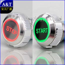 Botão interruptor ip67 on-line-Personalização Do Carro Barco Poder START STOP Botão 12 V 24 V Verde LED vermelho iluminado, 22mm de Metal de Travamento Botão Interruptor À Prova D 'Água IP67