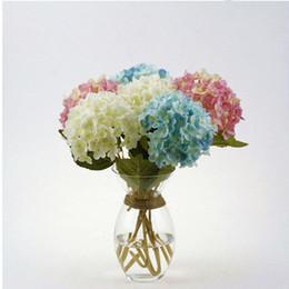 "Wholesale Tulips Fake Flowers - 42cm 16.6"" Artificial Hydrangea Flower Fake Silk Single Hydrangeas for Wedding Centerpieces Home Party Decorative Flowers 6 Colors"