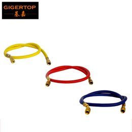 Wholesale Rubber Gas - TIPTOP Confetti Cannon Machine Gas In Gas Hose 50cm Long 3 Color to Choose (Red Blue yellow) Confetti Jet Machine Rubber hose Brass Fitting