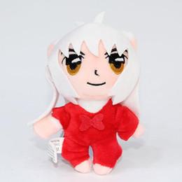"""Wholesale Inuyasha Anime - Hot Sale 4"""" 10cm 10pcs Lot Inuyasha Anime Kagome Keychain Pendant Plush Doll Stuffed Toy For Child Best Gifts"""
