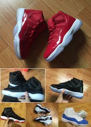 Wholesale Box Culture - 2017 With Box Mens and Women Retro 11 Breds High Space Jam Gym Red Basketball Shoes Sports Sneakers US5.5-13 Euro 47