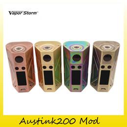 Wholesale Original Storm - Authentic Vapor Storm Austink200 TC VW Box Mod 200W Dual18650 Battery For Original 510 Thread Tank 100% Genuine 2239013