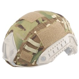 Wholesale Tactical Airsoft Helmets Wholesalers - SINAIRSOFT Airsoft Tactical Helmet Accessories Cover For Fast Helmet Cover BJ PJ MH Multicam Typhon Camo FAST Helmet Accessories