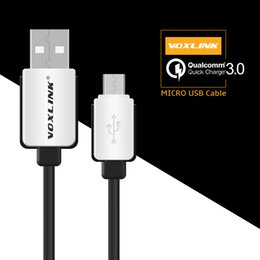 Wholesale Micro Usb Data Transfer Cable - VOXLINK Micro USB Cable Sync Data Transfer and Charging Cable 1M For Qualcomm Quick Charge 3.0  2.0 For Android Phones 3FT