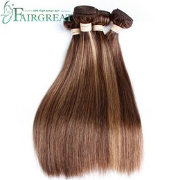 "Wholesale Ombre Remy Hair Bundles - Fairgreat #P4 27 Light Color Brazilian Indian Peruvian Malaysian Straight Human Hair Extensions only 16"" Non Remy Ombre Virgin Hair Bundles"