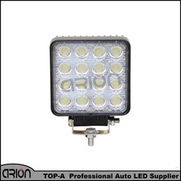 Wholesale Led Offroad Round - High Power 48W Hot Sell 12V LED Work Light 60 Degree Offroad Light Round Off road LED Work for Boating Hunting