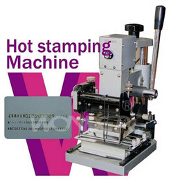 Wholesale Stamps Machine - New2017 Hot Sale Tipper Embosser Hot Foil Stamping Machine For PVC Paper Credit Card With 2 Aluminum Foil Paper