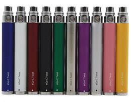 Wholesale Ego Twist Cig Kits - eGo-c Twist Battery for Electronic Cigarette Variable Voltage 3.2-4.8V 650mah 900mah 1100mah 1300mah for eGo Kit E Cig CE4 MT3 Tanks