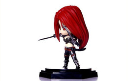 Wholesale Toy Garage Kits - 2017 Cute League of Legends Katarina Action Figure Toys Kawaii Collect Game Anime Model Garage Kit with box gifts By DHL