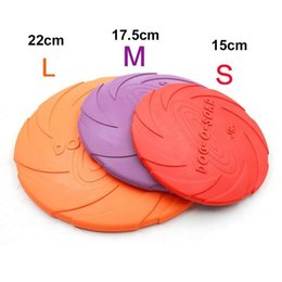 Wholesale Soft Flying Disc Dogs - Soft Eco-friendly Natural Rubber Pet Dog Toy Frisbee Flying Disc Training Toy 22cm 18cm 15cm