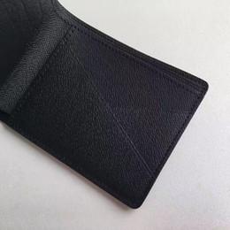 Wholesale Multiple Wallet - Brand New! Brown Multiple Wallet Mens Damier Ebene Canvas Taiga Leather Wallets for men designer handbags card holder wallet Multiple