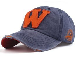 Wholesale Fitted Hats Baseball Caps - Xthree hot cotton embroidery letter W baseball cap snapback caps fitted bone casquette hat for men custom hats