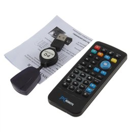 Wholesale Computer Remote Controller - Wholesale- IR Wireless Controller PC Computer Remote Control USB Media Center fly Mouse & USB Receiver For Windows 7 XP VISTA Hot