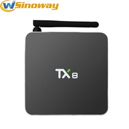 Wholesale Case Youtube - Android TV Boxes 32GB Flash Metal Case TX8 Amlogic S912 OCTA Core Android6.0 Smart TV Box Bluetooth 4.0 5G Wifi Gigabit LAN 4K Media Player