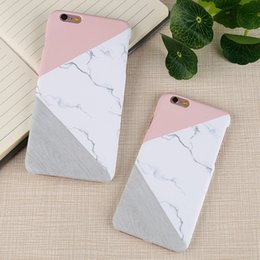 Wholesale Iphone Glossy Plastic Case - Plastic Cell Phone Case For iPhone 6 6S 6Plus New Arrival Cover For Glossy Granite Marble Contrast Color Hard Phone Cover Case PCC0040