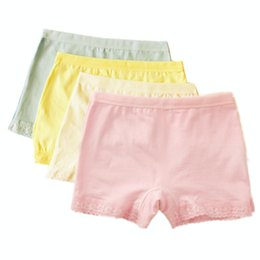 Wholesale Underwear Short For Children - Kids Underwear for Girls Lace Princess Safety Pants Children Cotton Shorts Puberty Boxers Young Toddler Mix Color