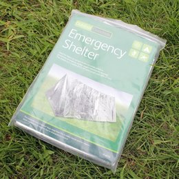 Wholesale Thermal Brace - 20pcs lot 240*160cm Waterproof Sliver Mylar Thermal Survival Shelter Emergency shelter for Camping tent Sporting Outdoor Free DHL