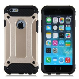 Wholesale Steel Phone Cases - For Apple iphone 7 plus case 6 6S iphone7 Plus Samsung Galaxy Note 7 S7 edge Steel armor TPU PC cell phone protective covers