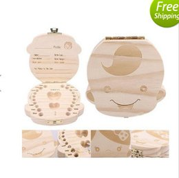 Wholesale Collection Tins - Baby Milk Tooth Collection Memorial Box Cute and Beautiful Wooden Box KUA baby comfortable life tooth box Baby Milk Tooth T4057