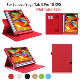2019 держатель для планшетов Wholesale- Leather Case For Lenovo Yoga Tab 3 Pro 10 X90 YT3-X90F/X90L/X90M Case Cover business Tablet Funda Hand Holder Shell дешево держатель для планшетов