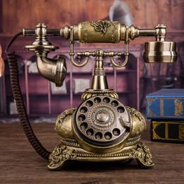 Téléphone européen antique en Ligne-Nouveau type Antique téléphone européen disque rotatif rétro mode téléphone maison fixe