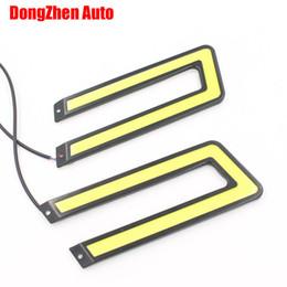 Wholesale Ford Fog Light - 2017 NEW COB Led Daytime Running Light DRL Headlight Fog Lamp DC12V for Ford CRUZE etc
