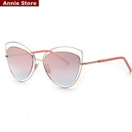 Wholesale Design Womens Sun Glasses - Wholesale-Peekaboo 2016 oversized sunglasses womens mirror hollow out brand design metal frame sun glasses cat eye luxury oculos de sol