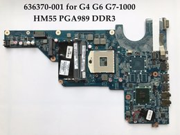 Wholesale Motherboard For Hp G6 - High quality laptop motherboard for HP Pavilion G4-1000 G6 G7 636370-001 HM55 R12 PGA989 DDR3 100% Fully Tested
