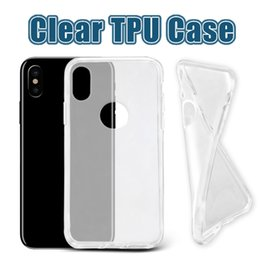 Wholesale Iphone Soft Clear Cases - For iPhone X 8 Thick TPU Case Samsung Note 8 Cases Galaxy S8 Plus Clear Soft TPU Case High Quality 1.0mm Soft Transparent gel Case Opp Bag