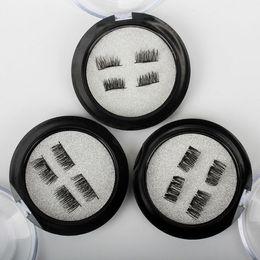 Wholesale Eye Doubling Glue - Wholesale 50Boxes LOT MAGNETIC EYELASHES Extension Kit Mix Styles Mink Hair Use Without Glue Reusable Fake Eye Lashes Double Layers Magnetic