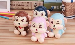 Wholesale old navy free shipping - Wholesale- Free Shipping 1PC New Mixed Cute Kawaii Cartoon Monkey Creative Pencil Sharpner Office and School Student Stationery Supplies