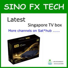Wholesale Starhub Box - Newest starhub box singapore hd V8 golden with football game and hd channels sport chs free 239+ IPTV channels vs c1 c801hd amiko