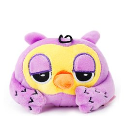 Wholesale Poodle Plush Toy - 2016 New arrivals dog chew toys sleepy owl pet plush toys 4 colors squeakers for Chihuahua Pug Poodle