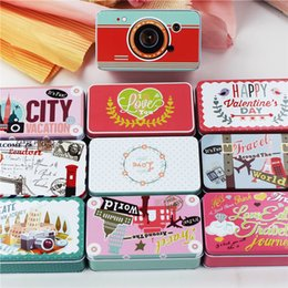 Wholesale Big Candy Boxes - 10 Piece Lot Big Size Macaron Cookies Box Tin Box Wedding Candy Storage Case Beauty Scenery Metal Tea Jewelry Case Sundries Organizer Cheap