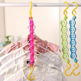 Wholesale Wholesale Closet - Clothes Closet Hangers used for Hanging T-shirt and Making T-shirt Tidy Wardrobes Saving Space Clothing Organizer Hook ZA2736