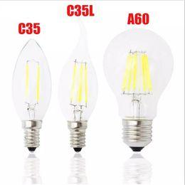 Wholesale E14 Dimmable Led Candle 12w - Classic E27 E14 E12 Dimmable led Filament bulb 4w 8w 12w 16w High Power bulb 110V 220V Retro led Edison lamp candle lightS