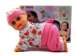 Wholesale Electric Baby Dolls - Electric crawl baby crawl doll, electric doll will laugh, singing will call Daddy Mommy learn crawling electric toys