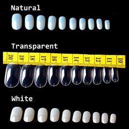 Wholesale Acrylic Plastic Products - Wholesale- 500Pcs Pack Full Cover Oval False Fake Nails Tips Acrylic Artificial Nail Tips Nails Beauty Products 2016 New Arrive
