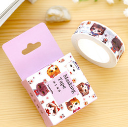 Wholesale New Scrapbooking Supplies - Wholesale- 2016 1Box New 1.5CM Wide Cute Little Kitty Cat Washi Tape DIY Scrapbooking Sticker Label Masking Tape School Office Supply H1196