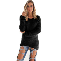Wholesale Women S Cashmere Sweaters Wholesale - Wholesale-2016 Pull Femme Autumn Winter Mink Cashmere Women Sweaters And Pullovers Long Sleeve Female Loose Jumper Women Sweater 5 Colors