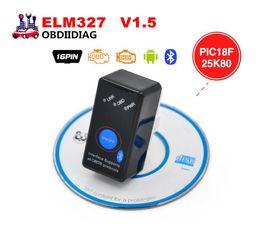 Wholesale Power Windows Honda - V1.5 MINI ELM327 Bluetooth Power Switch ELM 327 Version 1.5 OBD2   OBDII for Android Symbian Windows