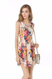 Wholesale Wholesale Big Women Clothes - Brand Fashion Women Dress Flower Print Plus Big Size Casual Clothing Ladies Summer Style Beach Vestidos Festa Mini Dress