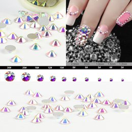 Wholesale glass flatback rhinestone - Beyond Better - ss3-ss40 Bag Clear Crystal AB Color 3D Non HotFix Nail Art Round Faceted Glass Flatback Rhinestones Glitters